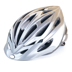 MTB helmet isolated on white