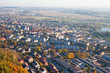 aerial view of Pinczow city suburbs in Poland
