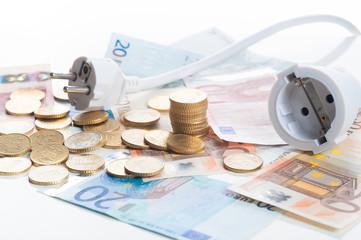 netzstecker mit banknoten 4