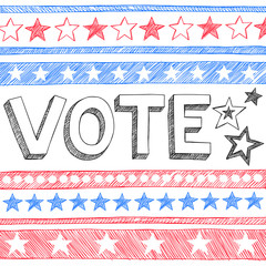 Vote Presidential Election Back to School Style Sketchy Doodles
