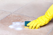 cleaning tile with sponge