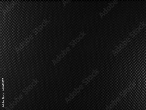 Black metal background with square holes