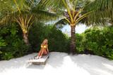 tropical woman on lounge