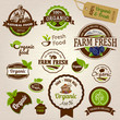 Set Of Fresh Organic Labels An...