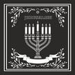 Jerusalem holiday vector background with menorah