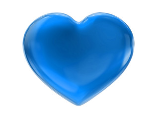 blue sky heart on white bg