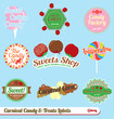 Vector Set: Vintage Carnival Candy Labels and Icons