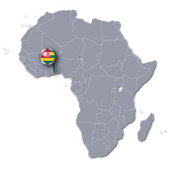 Afrikakarte Togo