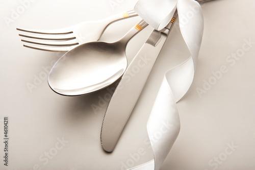 Leinwandbild Motiv cutlery