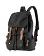 A beautiful black canvas backpack for loading stuffs