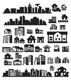 Fototapety houses icons