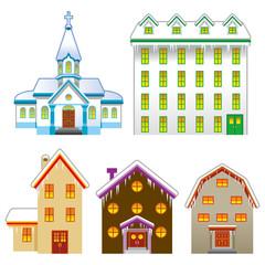 Church and House,Winter season