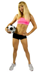 blonde female soccer player