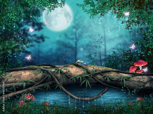 Drzewo nad zaczarowanym stawem - 46105464