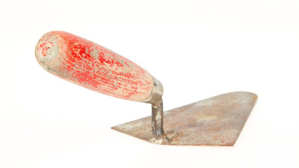 Used trowel, isolated