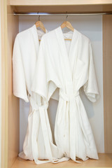 Two bathrobes
