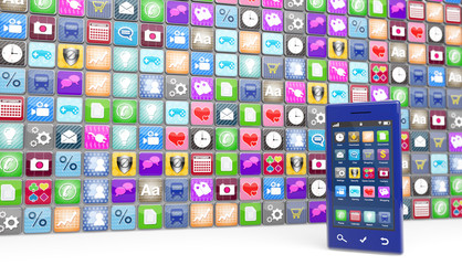 Modern smartphone with app icons