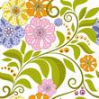 Vivid floral pattern
