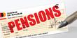 chèque de pension de retraite, de retraite