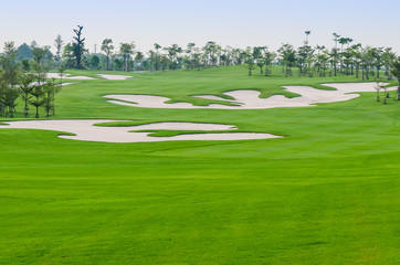 view landscape of golf course