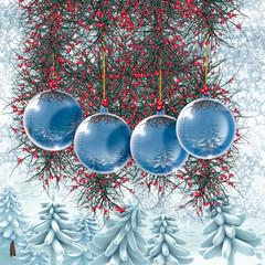 Addobbi natalizi blu