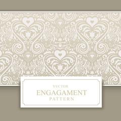 Wedding invitation card with interesting pattern