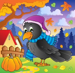 Cartoon raven theme image 2