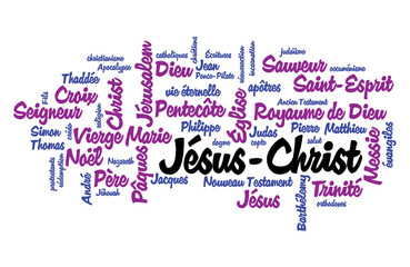 WEB ART DESIGN TAG CLOUD JESUS CHRIST DIEU MESSIE CHRISTMAS  040