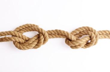 marines knot isolated on white background