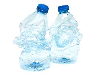 Verbrauchte Wasserflaschen