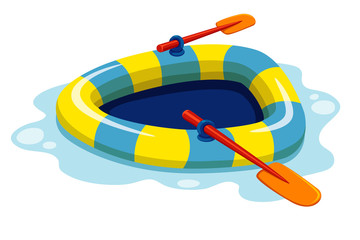 illustration of inflatable boat Vector