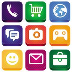 Vector bright app icons