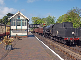 Steam engine No 90775 at  Sheringham Station.