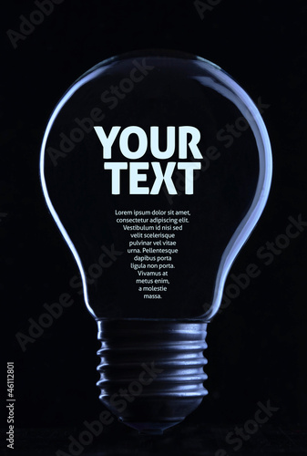Light bulb with copy space