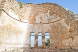 Saint Achilleios old Byzantine church ruins at lake Prespa in Gr poster