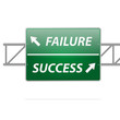 Success and Failure Road Sign Concept