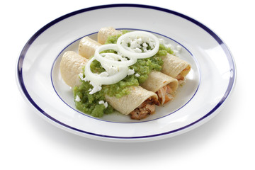chicken enchiladas verde, mexican cuisine