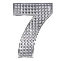 7 数字 銀 シルバー ダイヤモンド