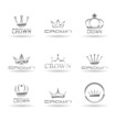 Crown icons set. Vol 2.