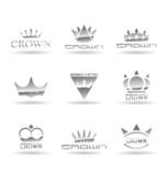 Crown icons set. Vol 1.