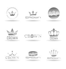 Crown icons set. Vol 3.