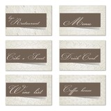 Set of 6 business cards. For cafe and restaurant