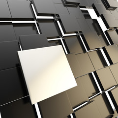 Abstract copyspace black square plate background