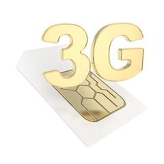 3G circuit microchip SIM card emblem isolated