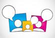 social media dialog, speech bubbles