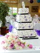 canvas print picture - Purple wedding cake