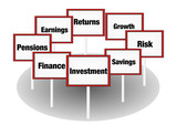 Investment and savings poster