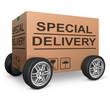 special delivery cardboard box
