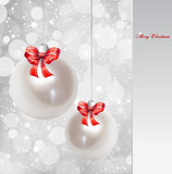 Pearl Christmas Ornament. Vector background