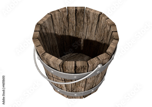Vintage Wooden and Metal Bucket